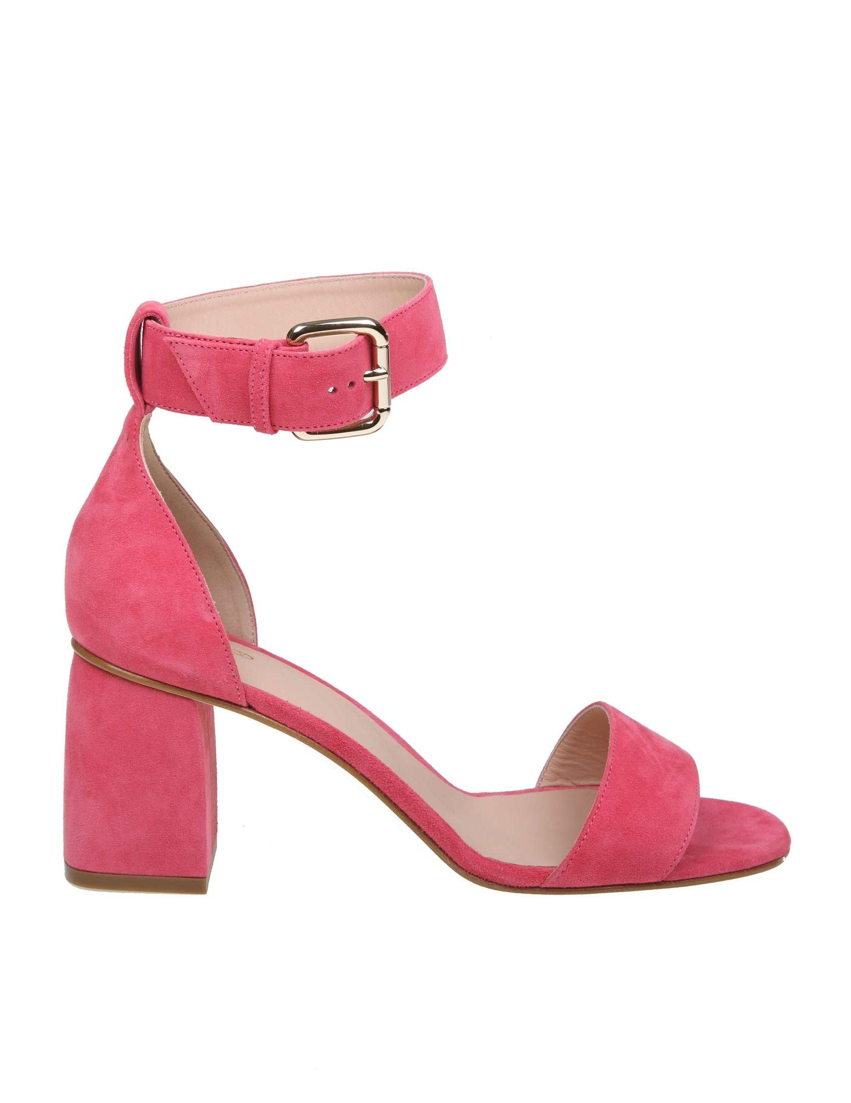 Fucsia Colore Red Camoscio Valentino Sandalo In qUzSVpGM