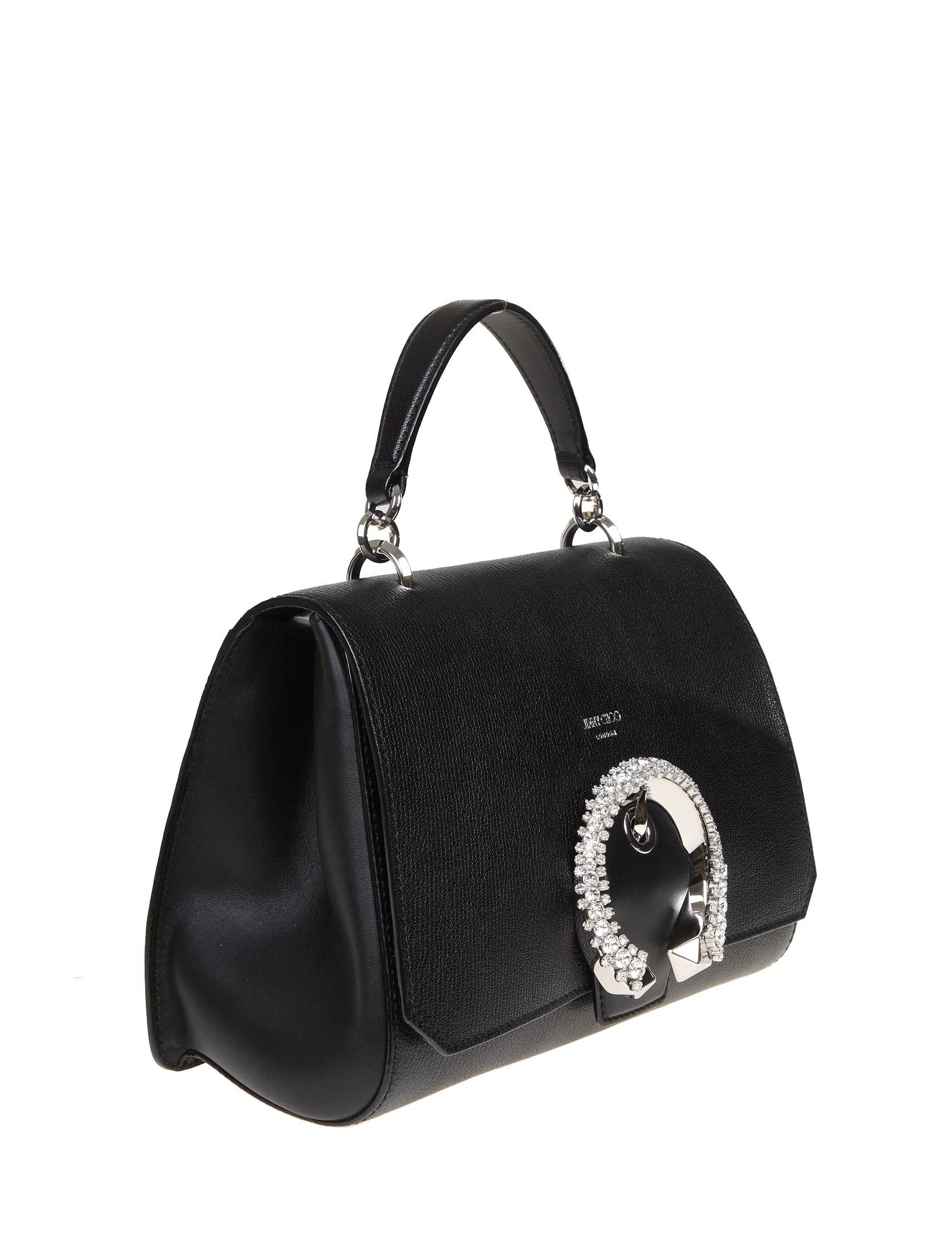 c9525f1d56b ... JIMMY CHOO MADELINE HANDLE HANDLE LEATHER BAG IN BLACK COLORED LEATHER.  prev