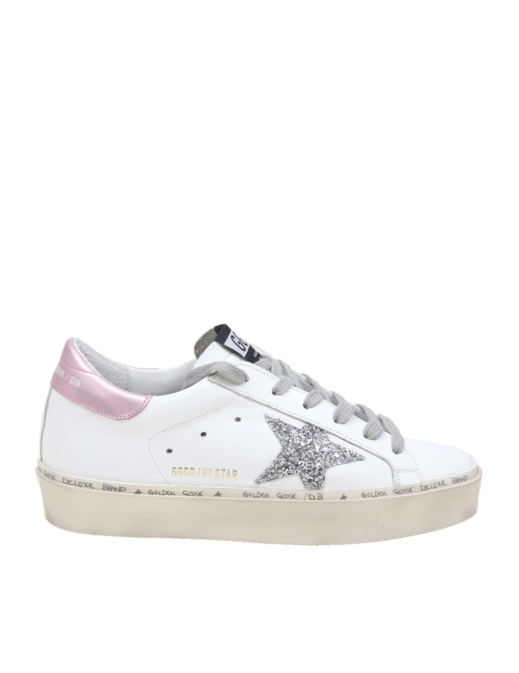 huge discount 906f3 3c09e GOLDEN GOOSE HI STAR SNEAKERS IN WHITE COLOR LEATHER
