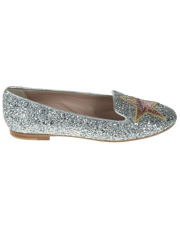 CHIARA FERRAGNI 'Joanne' glitter slippers